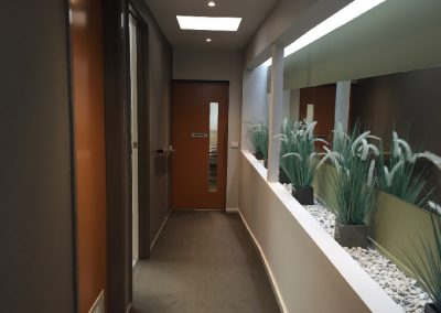 Dental clinic hallway