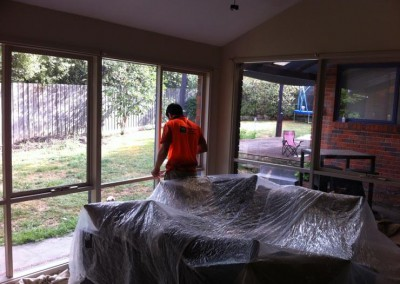 Residential painting interior - more prep work